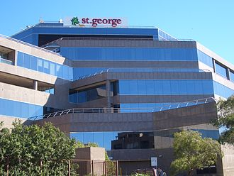 St.George Bank - St George Bank headquarters in Kogarah, Sydney.