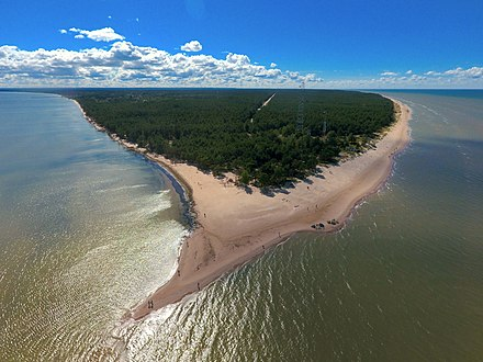 Cape Kolka, the northern tip of Latvia in the Gulf of Riga Kolkas rags.jpg