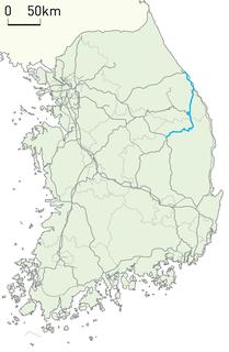 Yeongdong Line railway line in South Korea