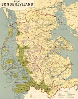 region south of the Kongeå in Jutland, Denmark