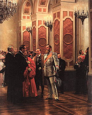 Frederick III, German Emperor - William allowed Frederick few official duties, such as attending balls and socializing with dignitaries (painting by Anton von Werner).