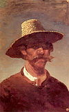 Kuindzhi The head of an Ukrainian peasant in a straw hat 1890 1895.jpg