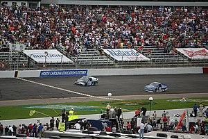 Turner Scott Motorsports - Kyle Larson beats Joey Logano to the finish at Rockingham in 2013