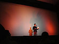 LA Animation Festival - Iron Giant introduction from Eli Marienthol (the voice of Hogarth Hughes) (6998590699).jpg