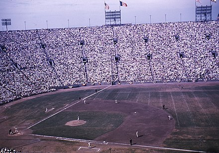 2275ebc82bb The 1959 World Series was played partially at the LA Coliseum while Dodger  Stadium was being