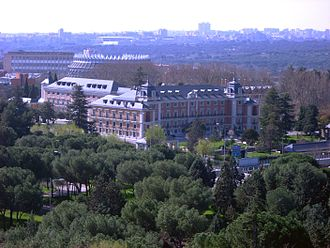 Palace of Moncloa - View of the set of La Moncloa from the University City of Madrid.
