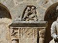 La Chapelle-Faucher église sculpture portail détail.JPG