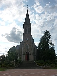 The church in La Chapelle-au-Moine