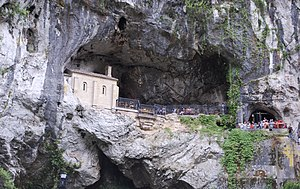 Our Lady of Covadonga - The Holy Cave, place where Our Lady of Covadonga appeared to Pelayo