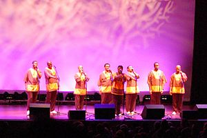 Ladysmith Black Mambazo - Ladysmith Black Mambazo performing in 2006 at the Ravinia Festival, Illinois