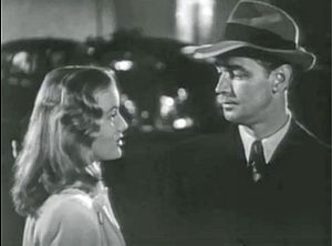 "The Blue Dahlia - Veronica Lake and Alan Ladd in trailer for ""The Blue Dahlia"" (1946)"