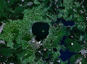Rotorua Caldera - NASA image of Lake Rotorua and caldera