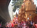 Lalbaugcha Raja just outside its Pandal at Lalgaug, Mumbai.JPG