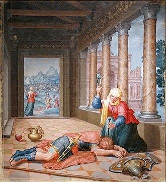 Sisera - Yael Killing Sisera, by Lambert Lombard, 1530-35.