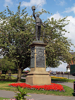 Lancashire Fusiliers War Memorial at Whitehead Gardens Lancashire Fusiliers, Tower Gardens.jpg