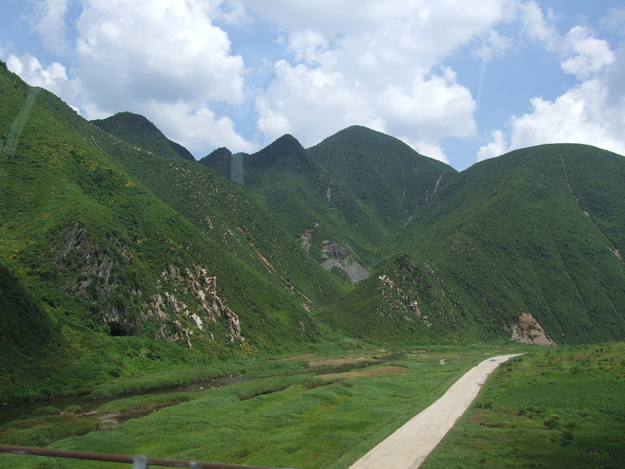 filelandscape with mountains in north koreajpg