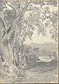 Landscape with Trees and Distant Hills (Smaller Italian Sketchbook, leaf 37 recto) MET DP269445.jpg