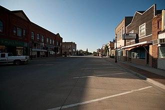 Langdon, North Dakota - Business district of Langdon