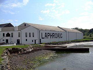 Laphroaig whiskey distillery islay scotland 06/16/2007.JPG