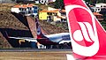 Last Air Berlin planes at Madeira airport (already insolvent) (38067355532).jpg