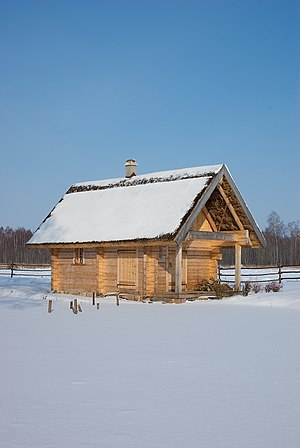 Latvian sauna house