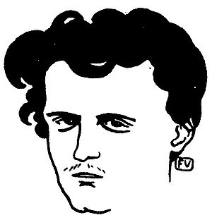 Comte de Lautréamont - An imagined portrait of Lautréamont by Félix Vallotton in The Book of masks from Remy de Gourmont (1898).