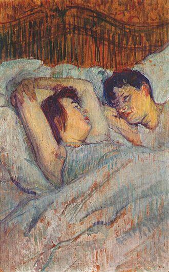 Le Lit (Toulouse-Lautrec) - Image: Lautrec in bed 1892