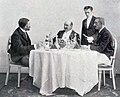 Le déjeuner fondateur de l'Automobile Club de France (de Zuylen, de Dion, et Meyan, auxquels viendra s'adjoindre M. Récopé, 25 quai d'Orsay chez de Dion - octobre 1895).jpg