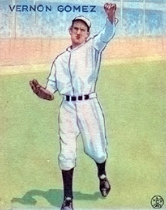 Lefty Gomez - Gomez's 1933 Goudey baseball card
