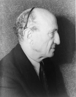 Leo Stein - Leo Stein (1872-1947), elder brother of Gertrude Stein. Photo by Carl Van Vechten, November 9, 1937