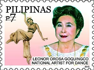 Leonor Orosa-Goquingco - Leonor Orosa-Goquingco on a 2010 stamp of the Philippines