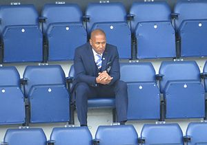 Les Ferdinand - Ferdinand watching the last QPR home game of the 2014–15 season v Newcastle