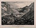 Les Eaux-Chaude, Pyrénées, France. Lithograph by J. Jacottet Wellcome V0012569.jpg
