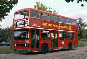 Privatisation of London bus services - London Northern Leyland Titan in 1992