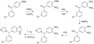 Liarozole - Liarozole synthesis from Lednicer book 6 (Drugs of the Future citation).