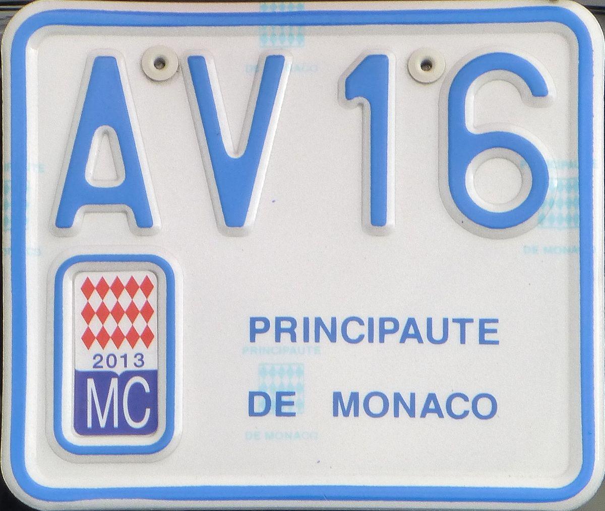 Kfz Kennzeichen Monaco Wikipedia
