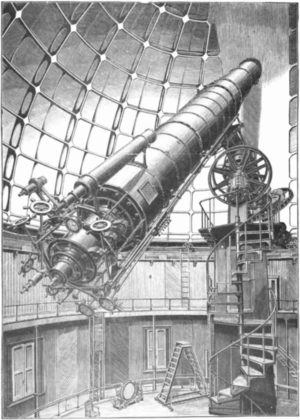 James Lick telescope - A drawing of the telescope from an astronomy book