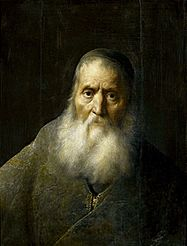 An old man (Rabbi).