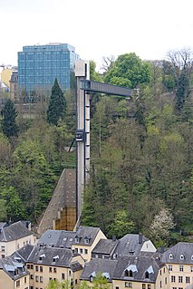 public elevator in Luxembourg City, Luxembourg