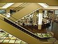 Light sculpture and escalators on ground floor (3896634929).jpg