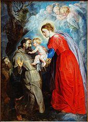 Saint François recevant l'enfant Jésus des mains de la Vierge
