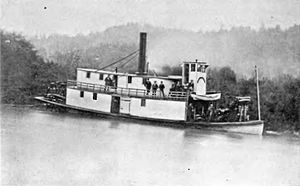 Steamboats of the Oregon Coast - Little Annie on the Coquille River