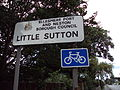 Little Sutton sign, A41, Cheshire.JPG