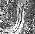 Lituya Glacier, tidewater glacier terminus with wide moraines, September 16, 1966 (GLACIERS 5602).jpg