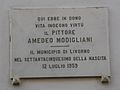 Livorno Via Roma Amedeo Modigliani plaque 01.JPG