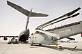 Loading a Sea King Helicopter onto a RAF C17 for Return to UK From Afghanistan MOD 45158066.jpg