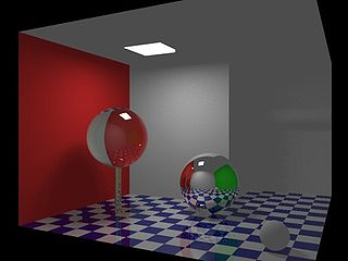 Global illumination Group of rendering algorithms used in 3D computer graphics