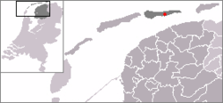 Location in Ameland municipality