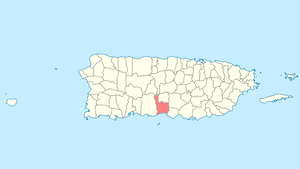 Location of Juana Díaz in Puerto Rico