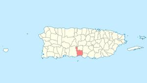 Juana Díaz, Puerto Rico - Image: Locator map Puerto Rico Juana Diaz
